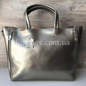 женская сумка бронзового цвета
