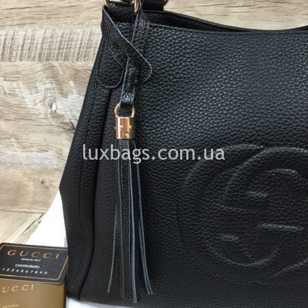 черная женская сумка gucci гуччи на двух сумках фото 7