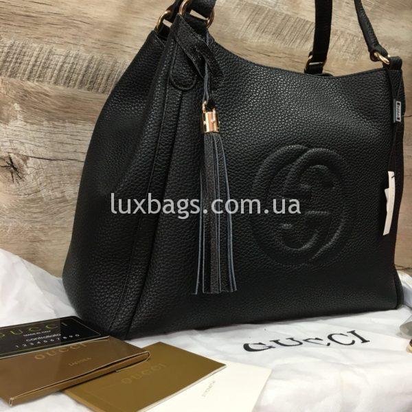черная женская сумка gucci гуччи на двух сумках фото 6
