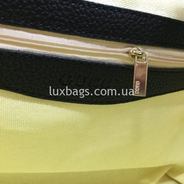 черная женская сумка gucci гуччи на двух сумках фото 5