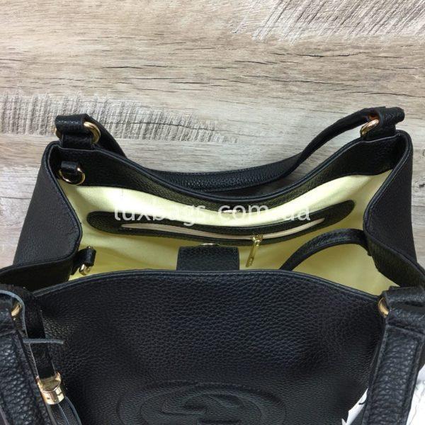 черная женская сумка gucci гуччи на двух сумках фото 3