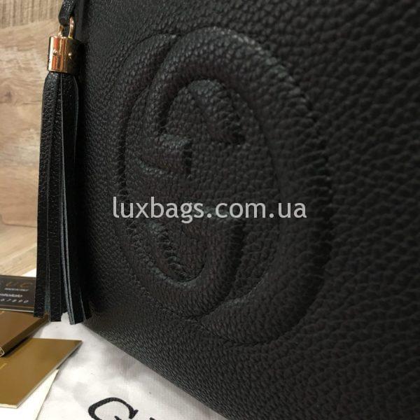 черная женская сумка gucci гуччи на двух сумках фото 1