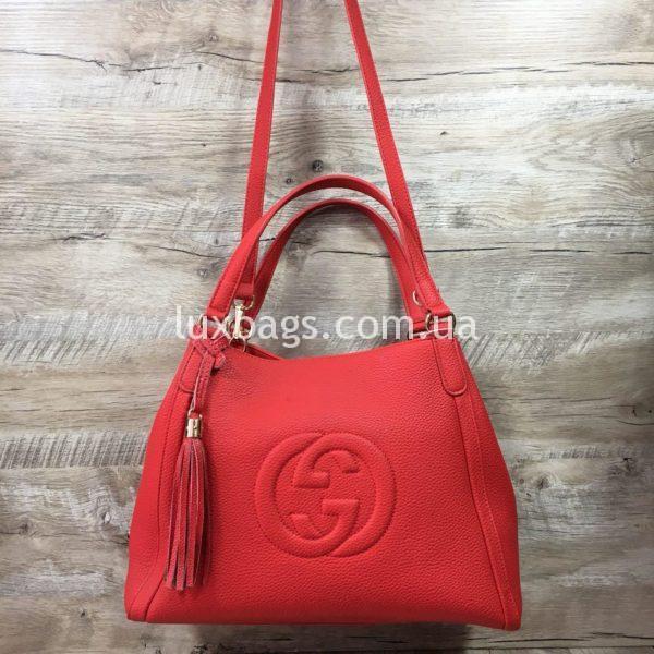 сумка женская гуччи красная недорого