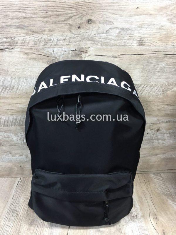 черный рюкзак BALENCIAGA баленсиага спортивного стиля фото 9