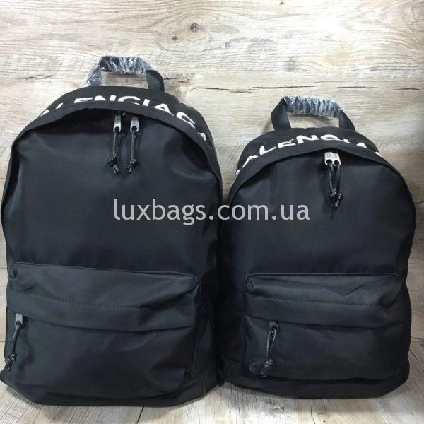 черный рюкзак BALENCIAGA баленсиага спортивного стиля фото 2