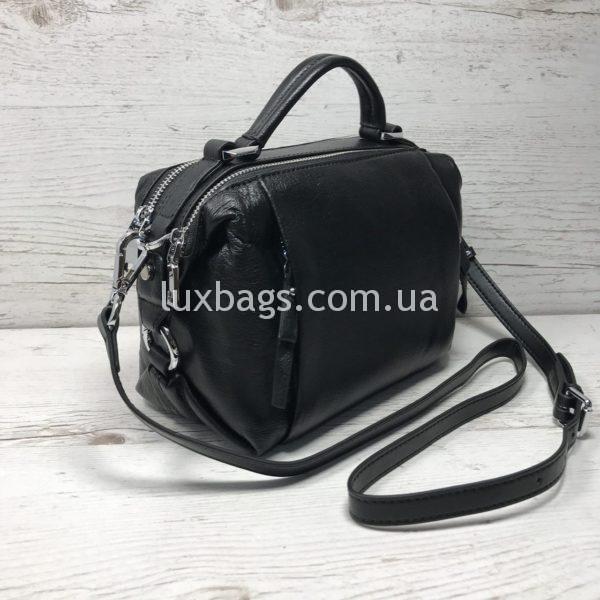 Женская кожаная сумка саквояж Polina&Eiterou фото 3