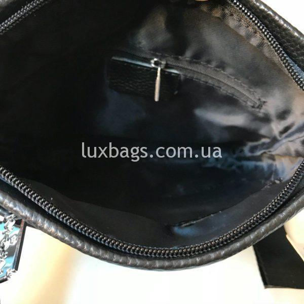 Мужская кожаная сумка Philipp Plein через плечо фото 3