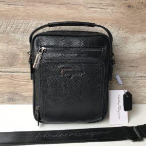 Мужская кожаная барсетка-сумка Salvatore Ferragamo