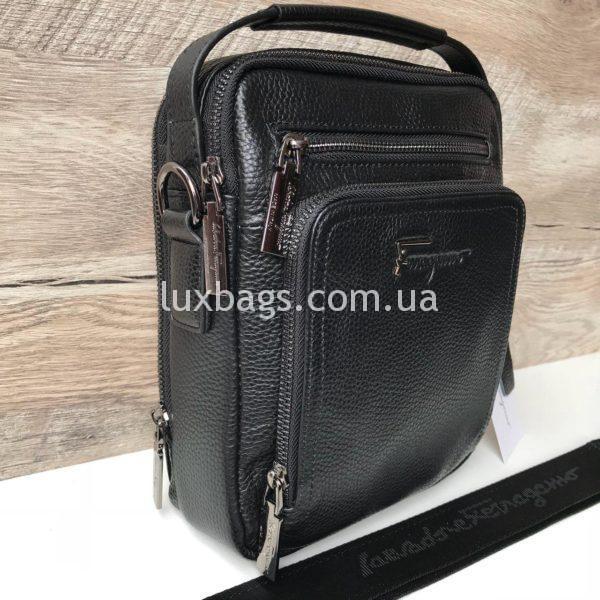 Мужская кожаная барсетка-сумка Salvatore Ferragamo фото 3