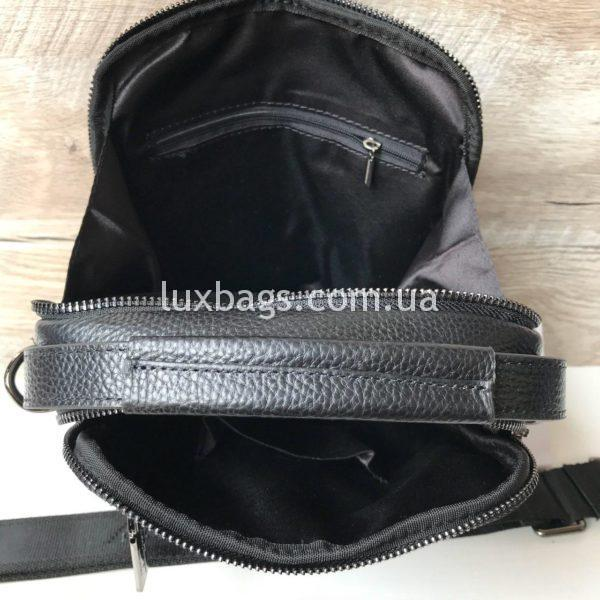 Мужская кожаная барсетка-сумка Salvatore Ferragamo фото