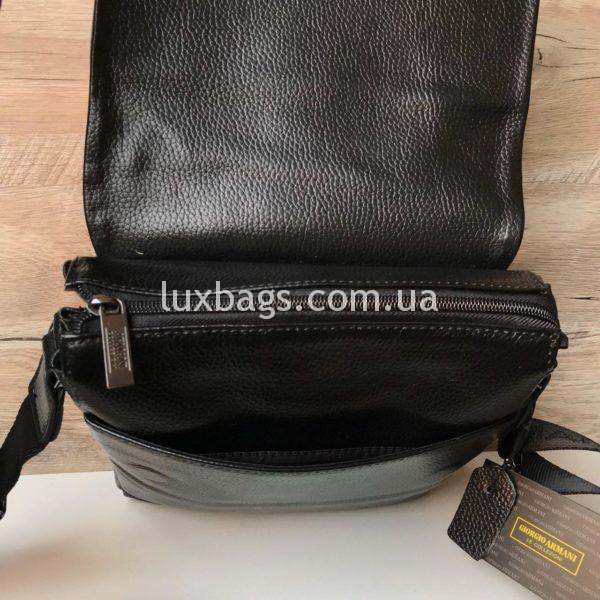 сумка мужская армани через плечо с клапаном фото 4