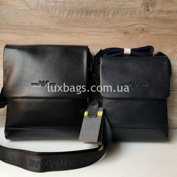 сумка мужская армани через плечо с клапаном фото 2