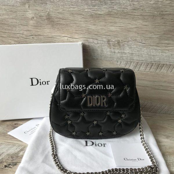 Женская кожаная маленькая сумочка Dior вид 5