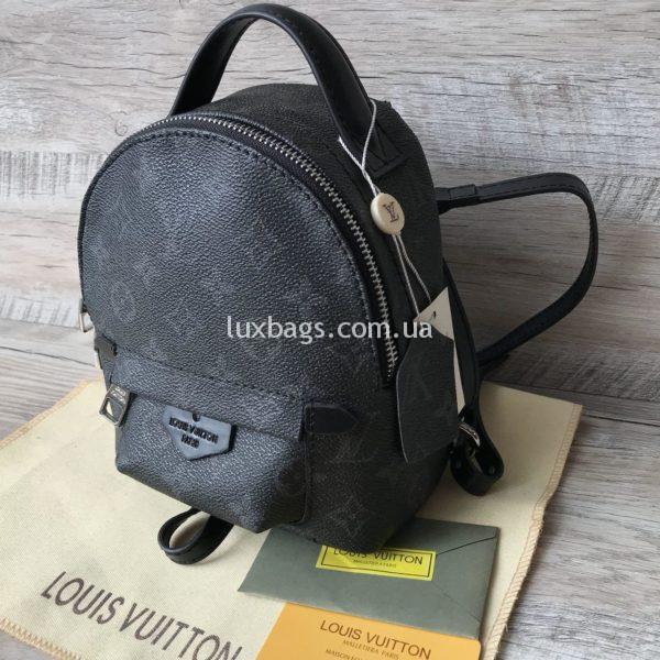 Женский мини рюкзак Louis Vuitton Луи Виттон серый