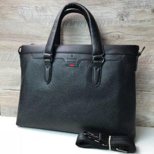 Кожаный портфель Gucci стильный а4