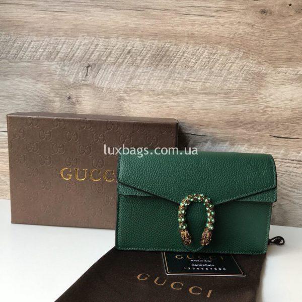 зеленая Кожаная сумочка Gucci гуччи