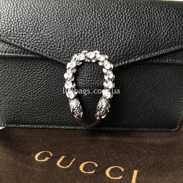 Кожаная сумочка Gucci черная
