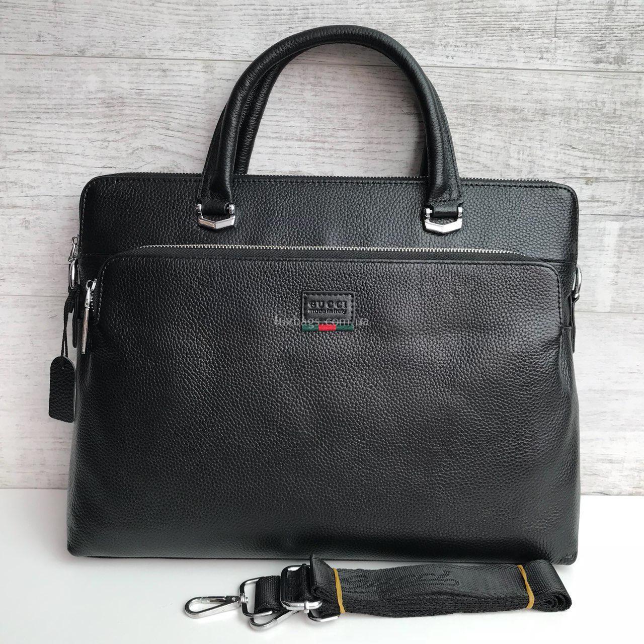ebcf143102c9 Кожаный портфель Gucci формата А4 (Гуччи) Купить на lux-bags