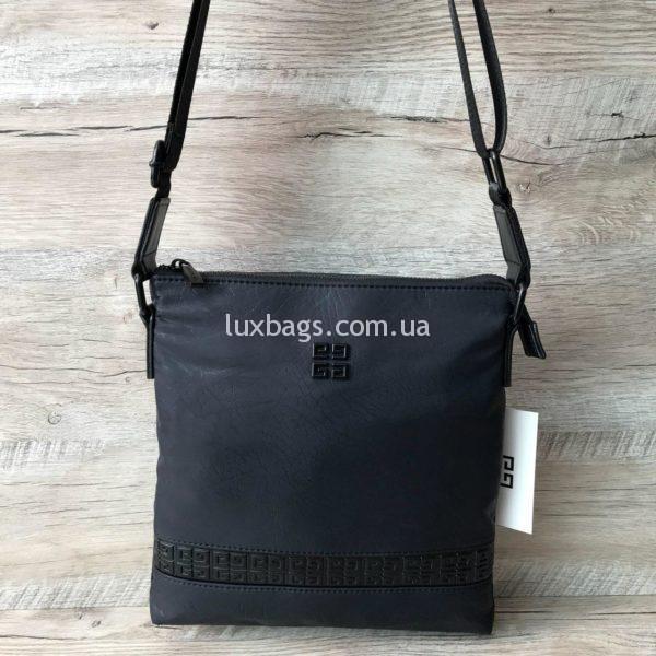 черная мужская сумка через плечо крутая