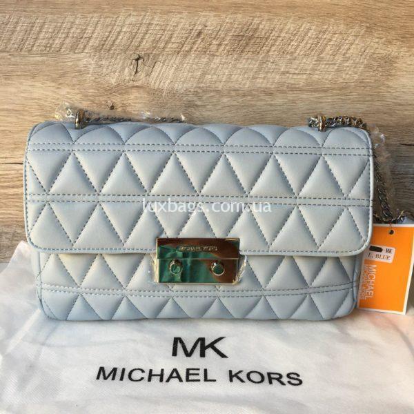 Женская небольшая сумка Michael Kors голубая
