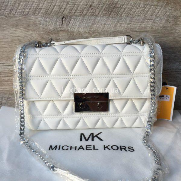 Женская небольшая сумка Michael Kors белая