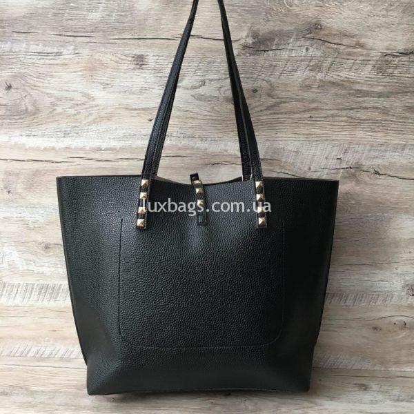 Женская сумка с высокими ручками