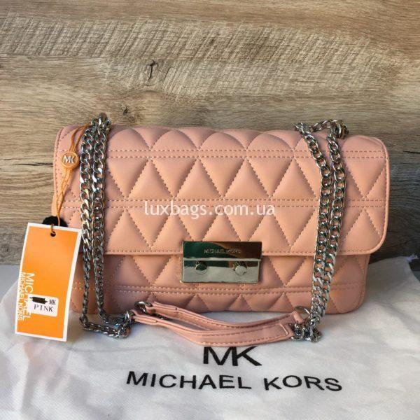 Женская небольшая сумка Michael Kors розовая