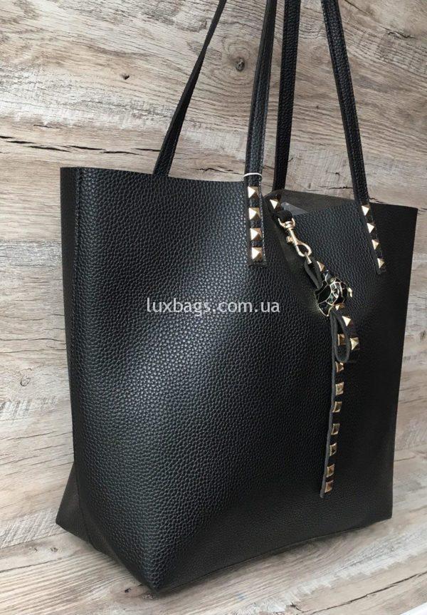 купить черную кожаную сумку недорого