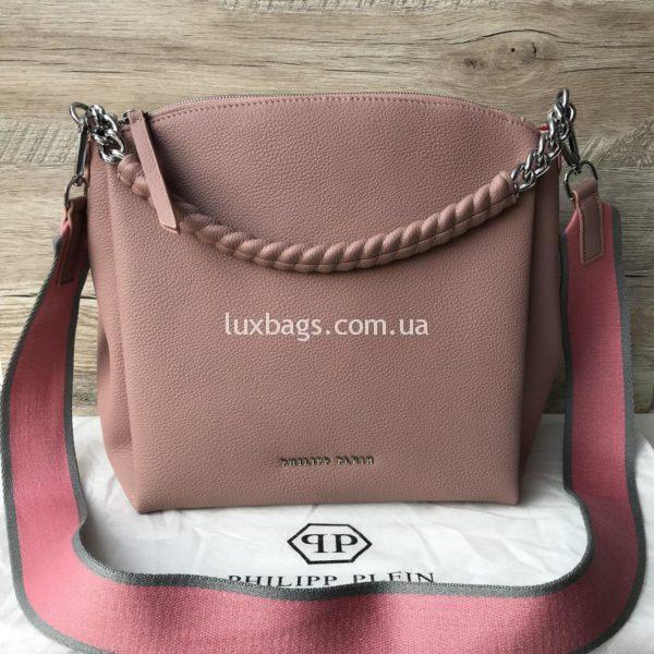розовая Женская сумка Philipp Plein