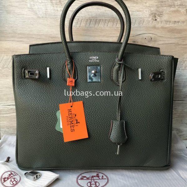 зеленая Женская сумка Неrmеs Вirkin Гeрмec Биркин