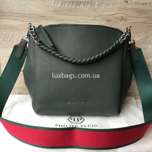 Женская сумка Philipp Plein зеленая фото