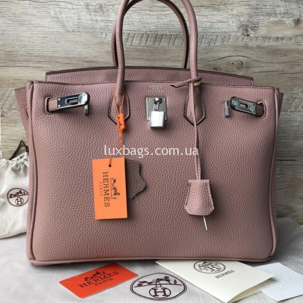 розовая Женская сумка Неrmеs Вirkin Гeрмec Биркин