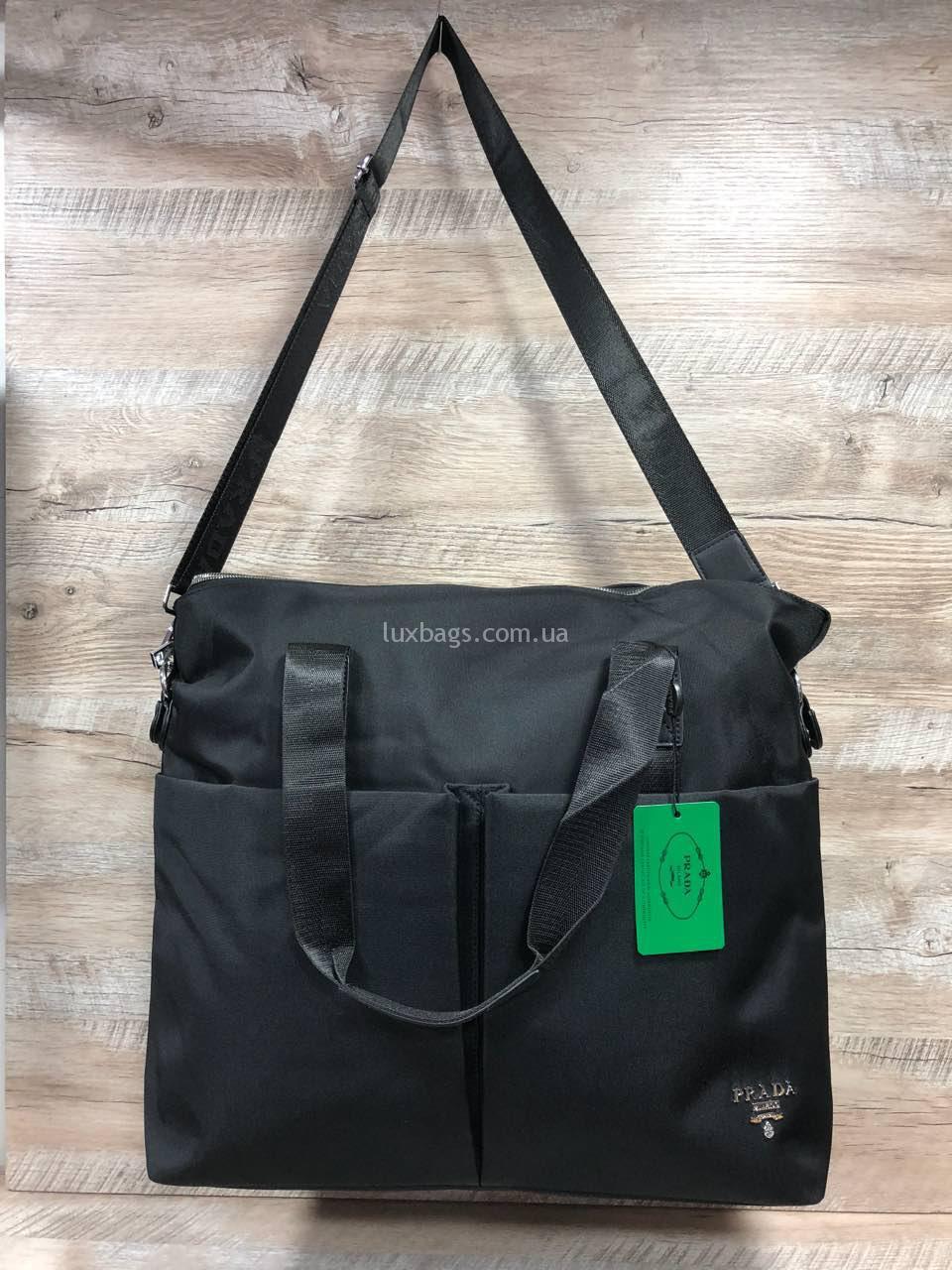 81be1cecbb91 Большая сумка Prada Прада черная женская фото