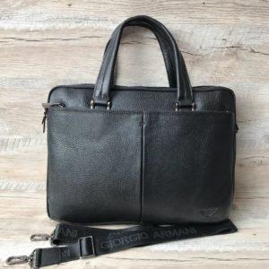 Кожаный портфель Armani недорого