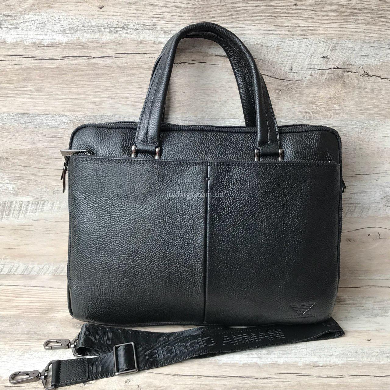 5c01f04bc742 Кожаный портфель Armani Купить на lux-bags