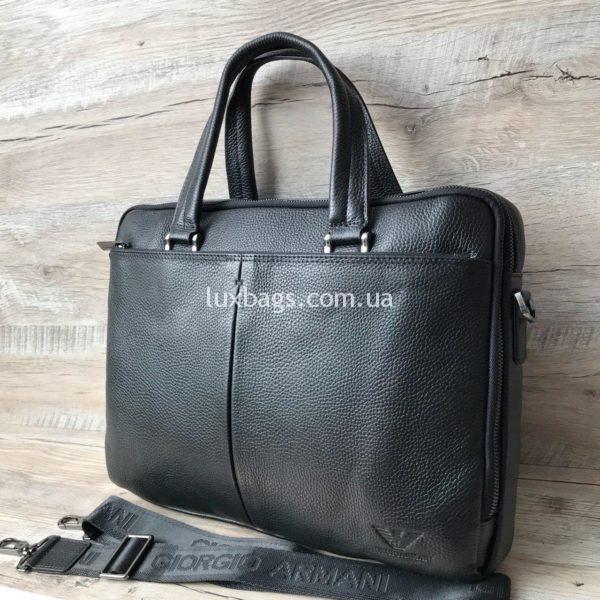 Кожаный портфель Armani фото