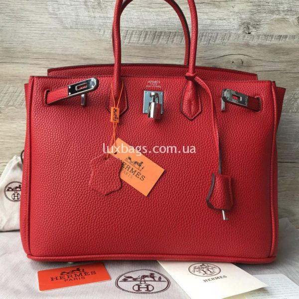 красная Женская сумка Неrmеs Вirkin Гeрмec Биркин