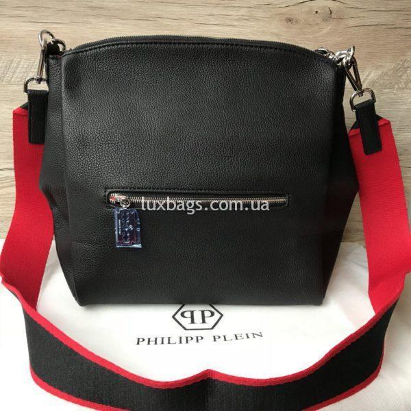 Женская сумка Philipp Plein черная фото