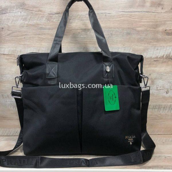 Большая сумка Prada Прада черная изображение