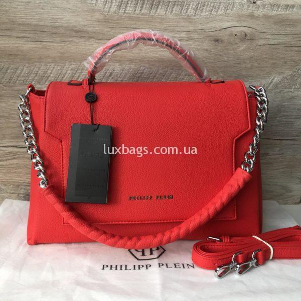 женская сумочка Philipp Plein красная