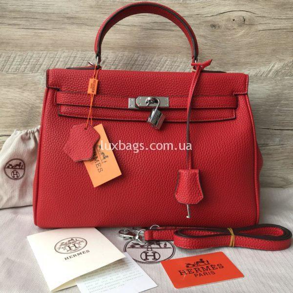 Женская сумка Hermes Kelly фото красной сумки