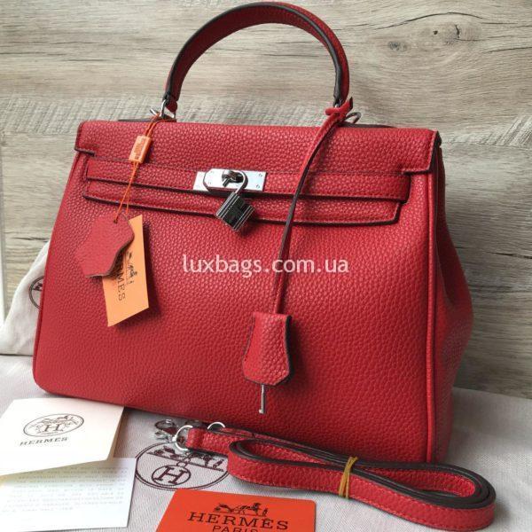Женская сумка Hermes Kelly красная купить