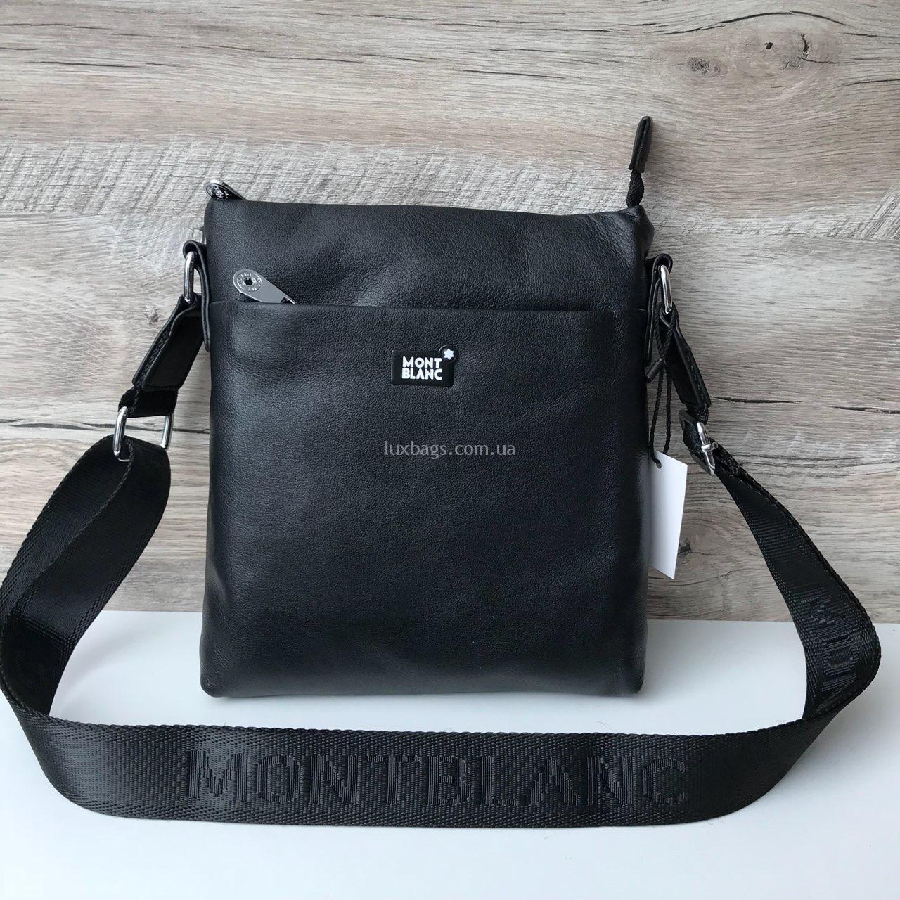8de242144a89 Мужская кожаная сумка Mont Blanc через плечо   lux-bags