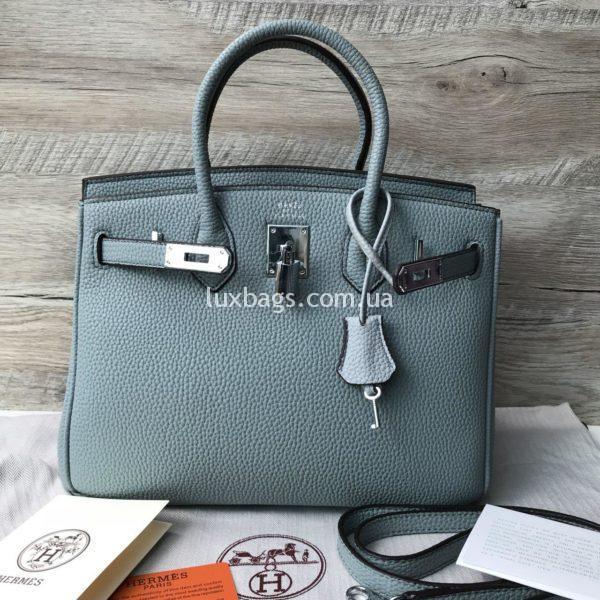 Женская сумка Hermes Birkin 30 голубая