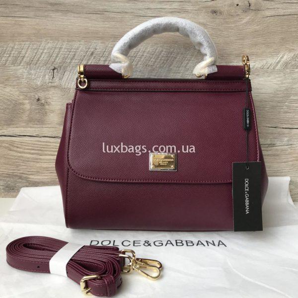 Женская сумка Dolce & Gabbana Miss Sicily марсал медиум