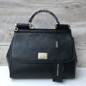 Женская сумка Dolce & Gabbana Miss Sicily чёрная медиум