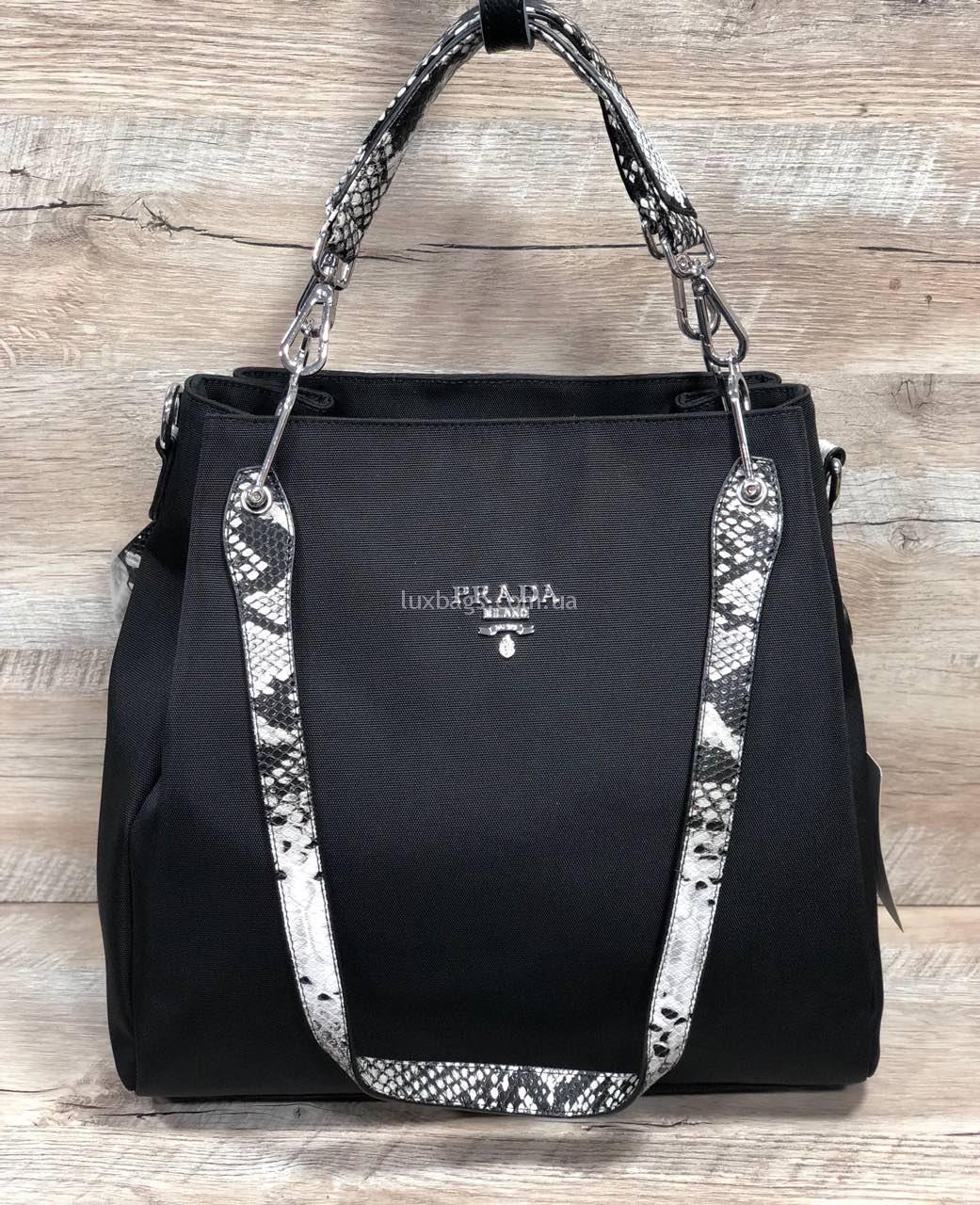 b8edb3a13b24 Женская сумка из плащевка Prada Прада Купить на lux-bags