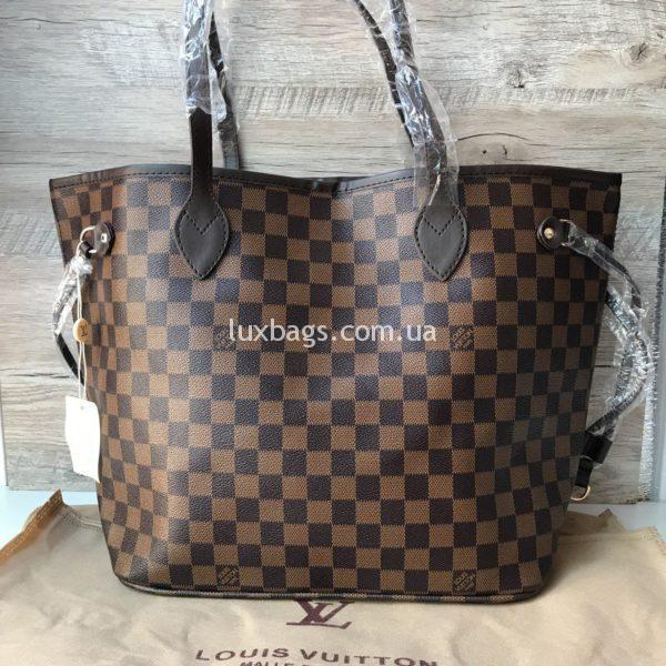 Женская сумка Louis Vuitton neverfull коричневая