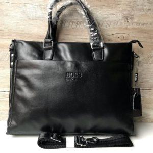 Кожаный мужской портфель Hugo Boss