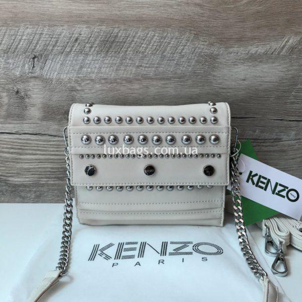 Женская сумочка Kenzo белая